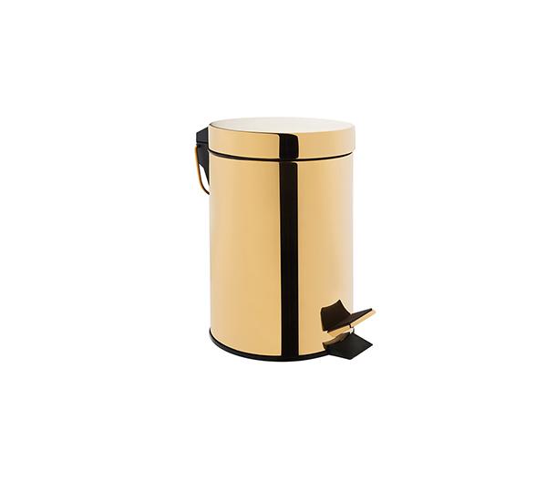 5 Lt. Altın Kaplama Pedallı Çöp Kovası