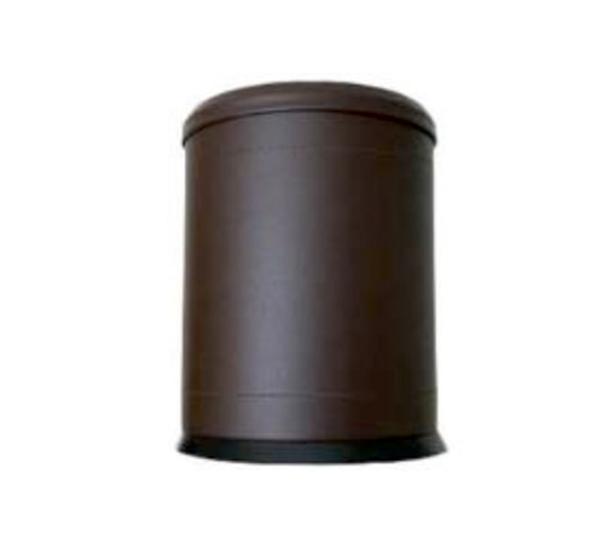 5 Lt Komple Deri Kaplı Çemberli Çöp Kovası